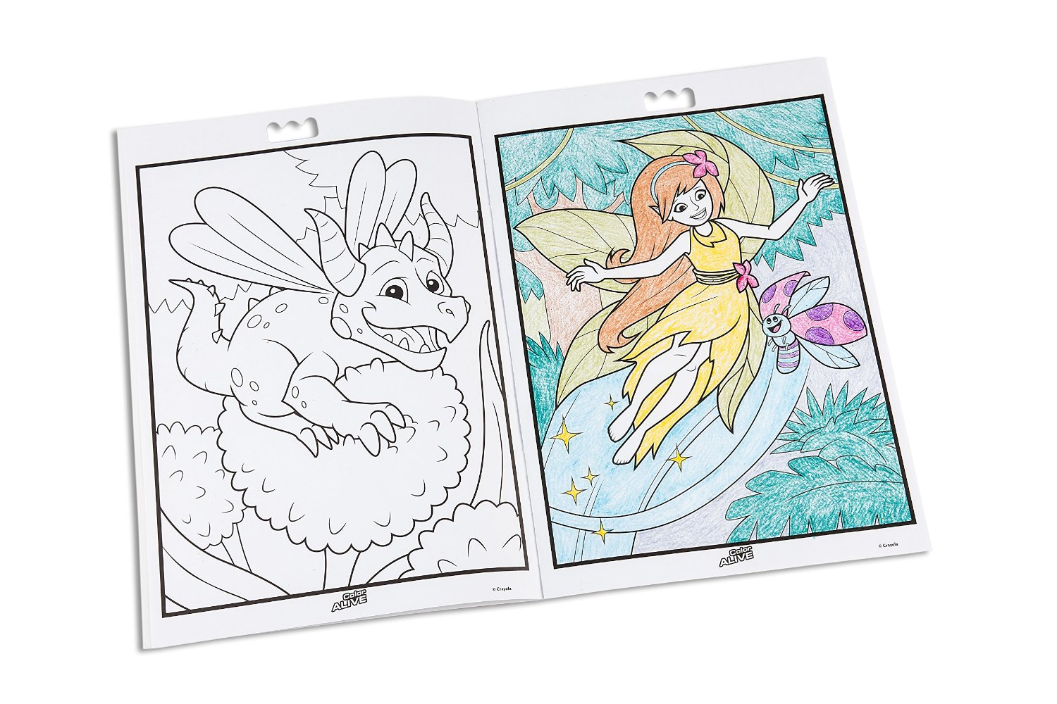 Crayola colour alive enchanted forest arovn les fixy for Crayola color alive coloring pages