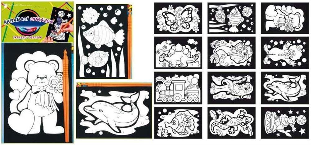 Škrabací obrázky ornamenty
