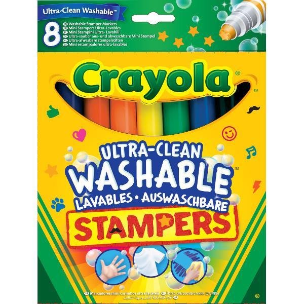 Crayola razítka - 8 omyvatelných barev