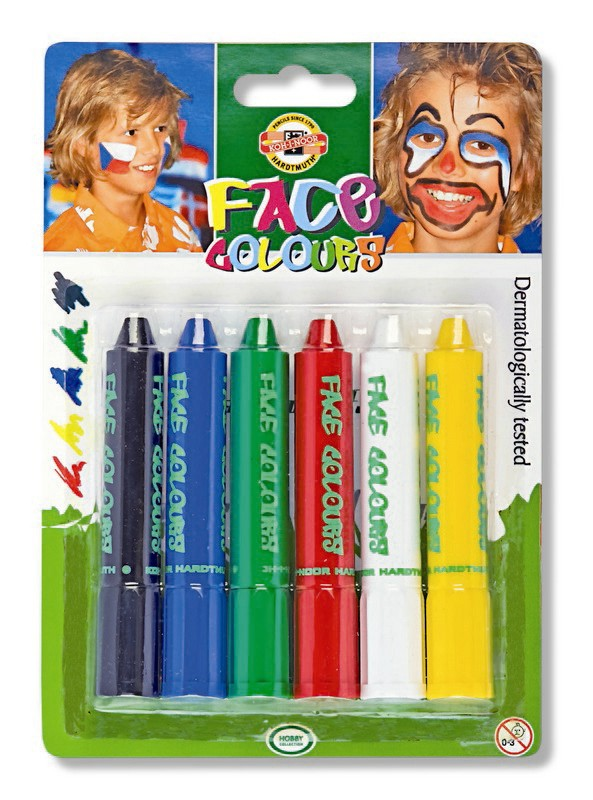 Základní obličejové barvy 4610 - Koh-I-Noor barvy na obličej - 6 ks