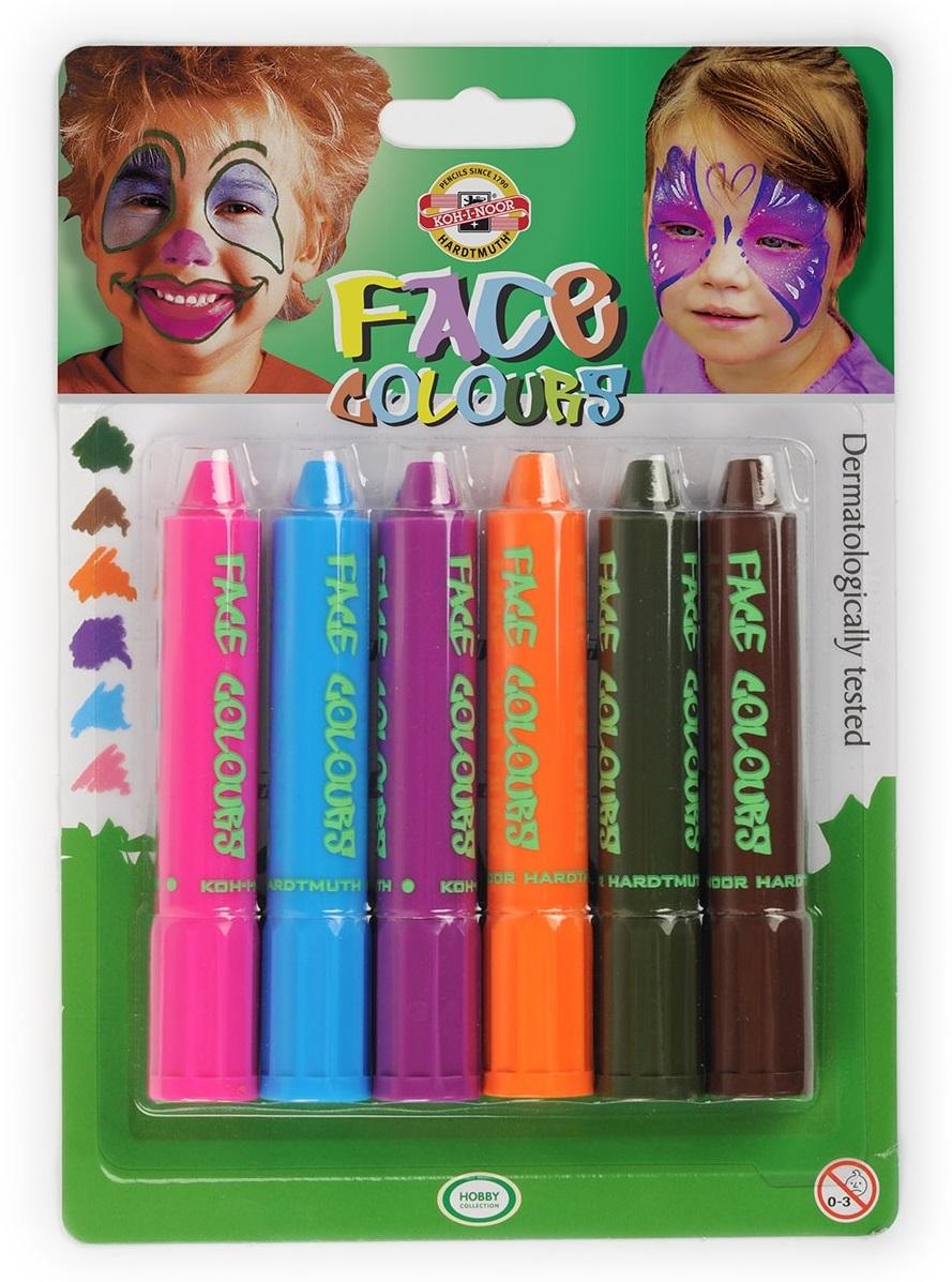 Pastelové obličejové barvy 4610 - Koh-I-Noor barvy na obličej - 6 ks