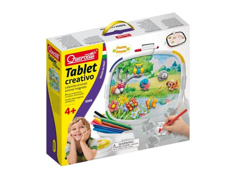 Quercetti Tablet creativo - hračka s magnetkami zvířátek