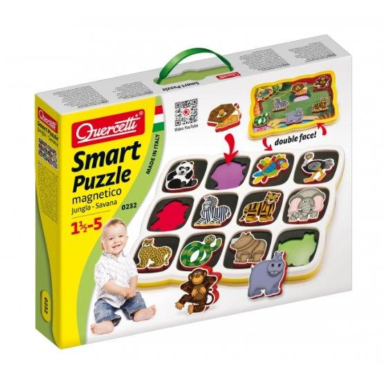 Quercetti Smart Puzzle magnetico Jungla Savana - pro děti od 18 měsíců