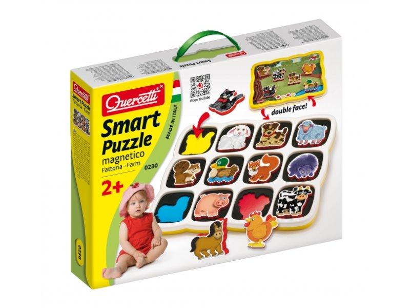 Quercetti Smart Puzzle magnetico Farm - pro děti od 18 měsíců