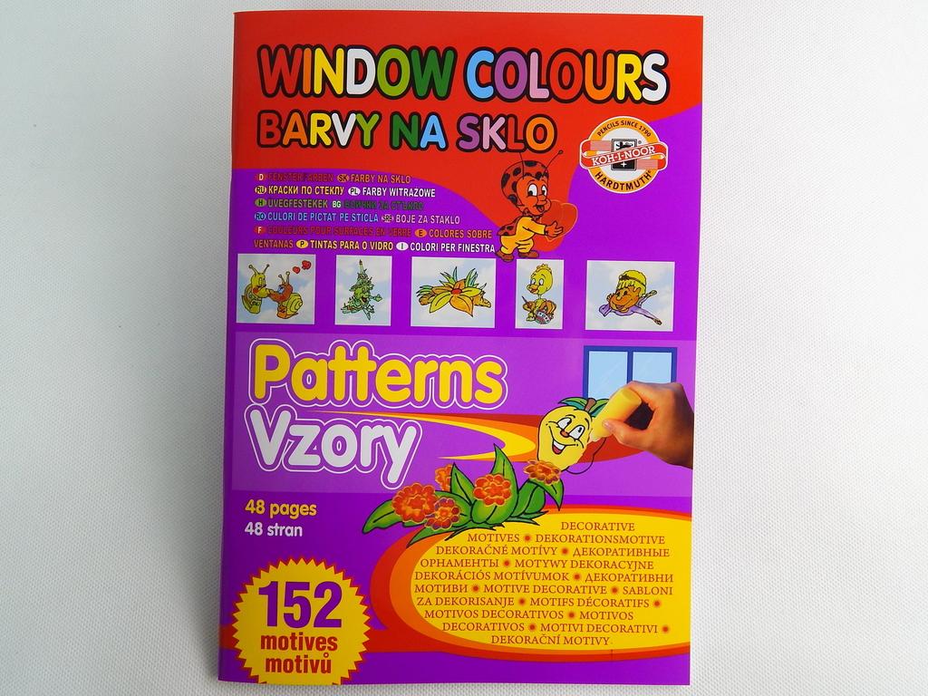 Fotografie Šablony k barvám na sklo Koh-I-Noor - 152 motivů