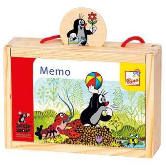 Fotografie Bino - dřevěné pexeso v krabičce - Krtek