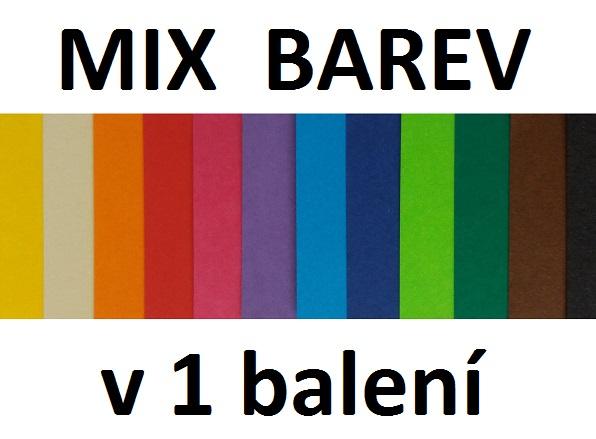 Barevný kreslící karton 180 g/m2 - mix barev A4 - 60 ks - 12 barev po 5 ks - kladívková čtvrtka