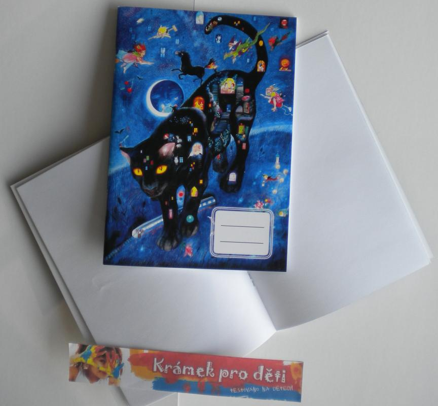 Sešit A5 bez linek - Marie Brožová - Černý panter noci