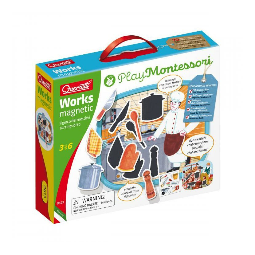 Quercetti Montessori Works Magnetic sorting lotto – magnetické loto