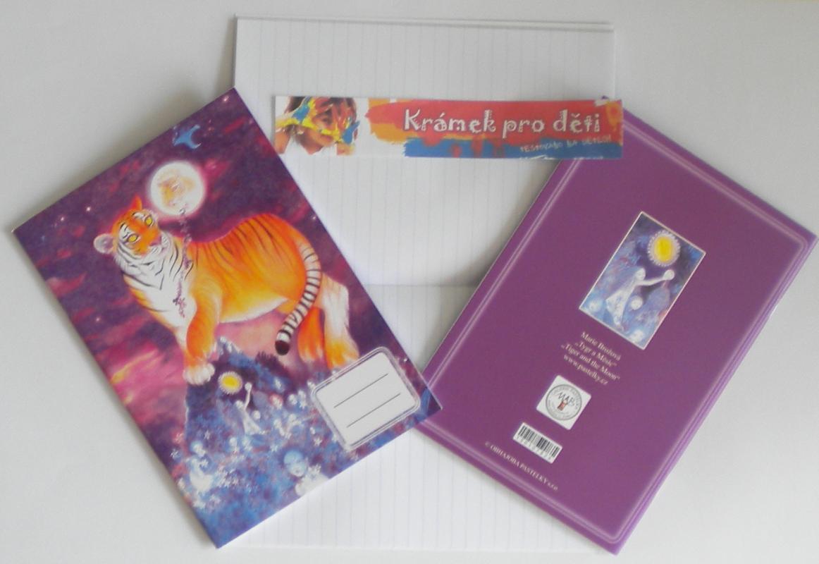 Sešit A5 linkovaný - Marie Brožová - Tygr a Měsíc