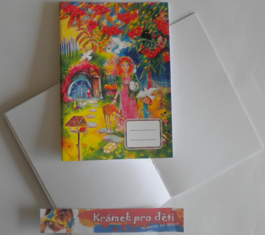 Sešit A5 bez linek - Marie Brožová - Víla Jeřabiny