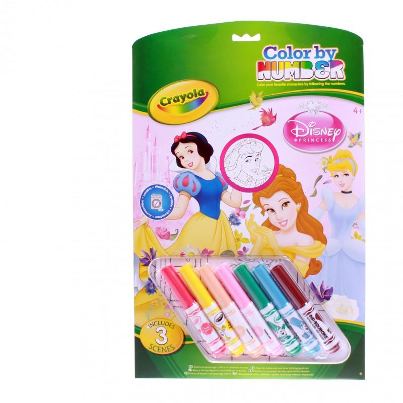 Crayola malování podle čísel Disney Princezny