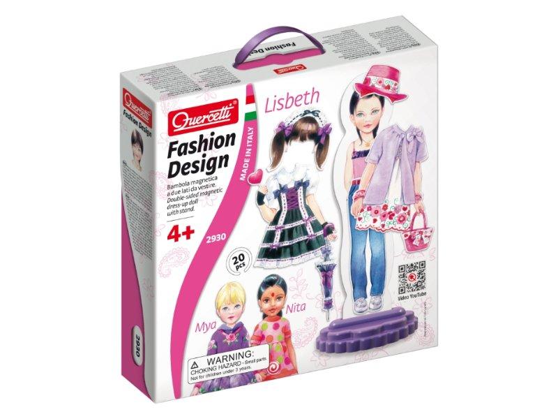 Quercetti Fashion Design Lisbeth - oblékací magnetická panenka