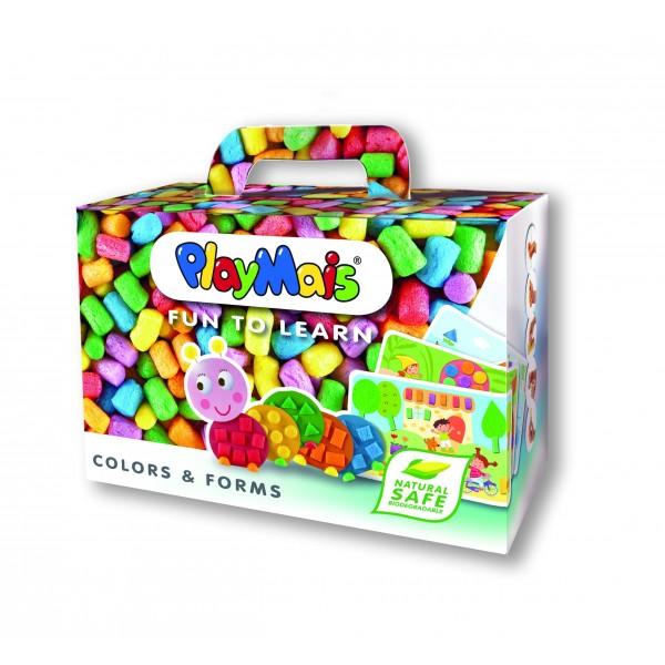 Fotografie Kukuřičná stavebnice PlayMais - Barvy a tvary - 550 dílků