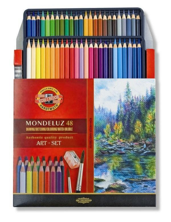 Akvarelové pastelky 48 ks Koh-I-Noor Mondeluz