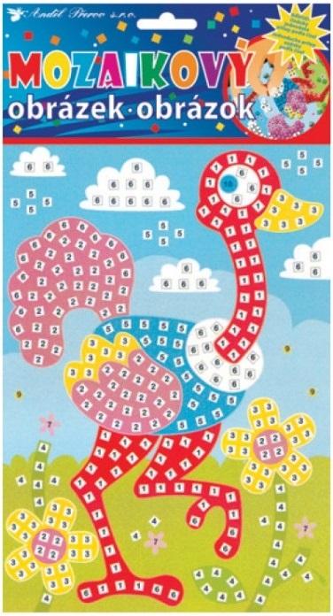 Mozaika pro děti - Pštros