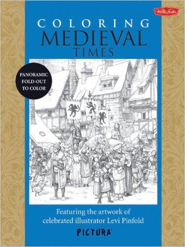 Coloring Medieval Times - Panorama středověkého města