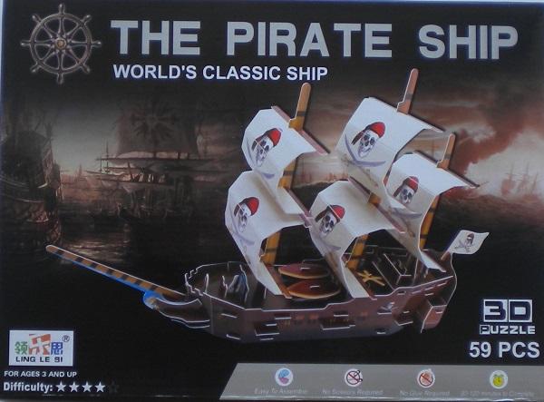 Vylamovací stavebnice 3D Pirátská loď