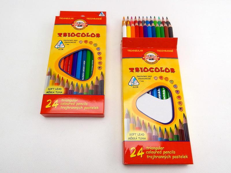 Trojhranné školní pastelky Triocolor 24 ks Koh-I-Noor 3134