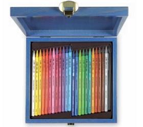 Fotografie Pastelky Koh-I-Noor Progresso 24 ks 8758 v luxusní dřevěné kazetě