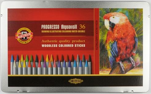 44395e07619 Akvarelové pastelky 36 ks Koh-I-Noor Progresso 8785 36