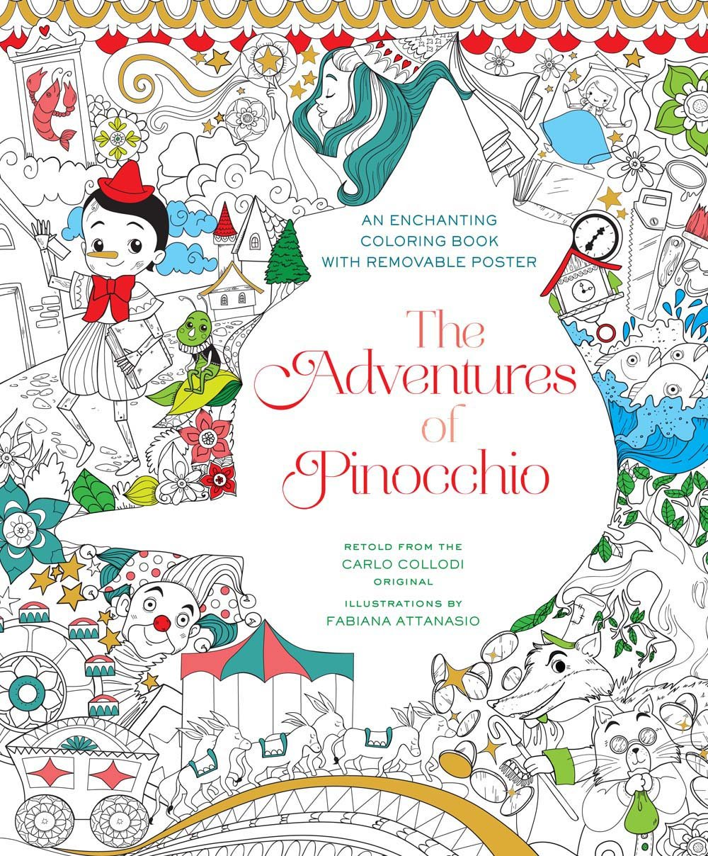 The Adventures of Pinocchio Coloring Book - Fabiana Attanasio