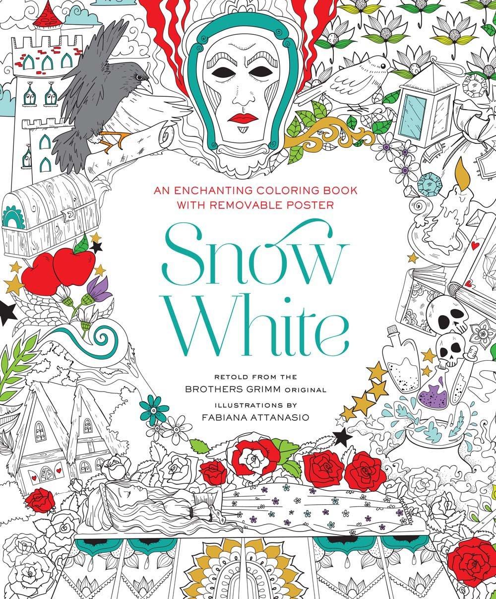 Snow White Coloring Book - Fabiana Attanasio - Sněhurka a sedm trpaslíků