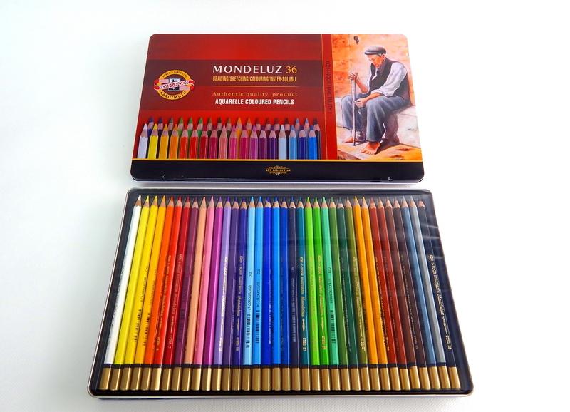 Umělecké akvarelové pastelky 36 ks Koh-I-Noor Mondeluz 3725