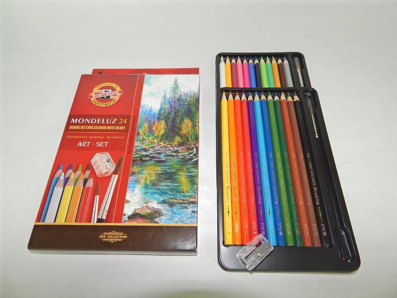 Akvarelové pastelky 24 ks Koh-I-Noor Mondeluz