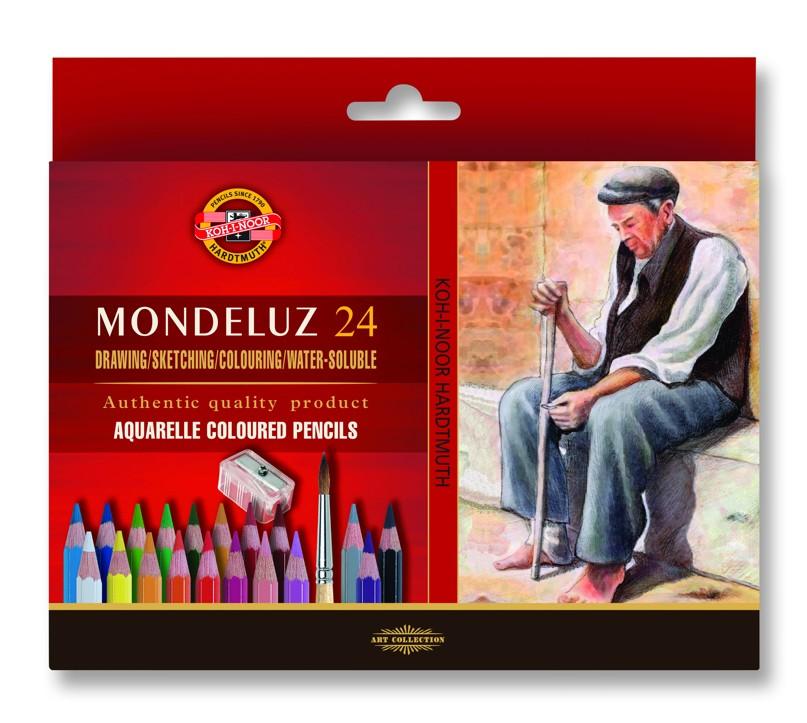 Fotografie Akvarelové pastelky 24 ks Koh-I-Noor Mondeluz