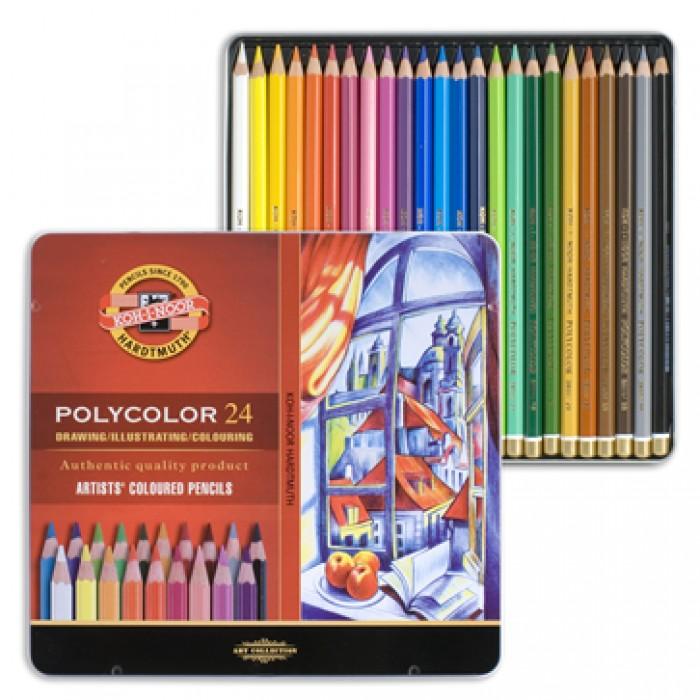 Umělecké pastelky 24 ks Koh-I-Noor Polycolor 3824/24