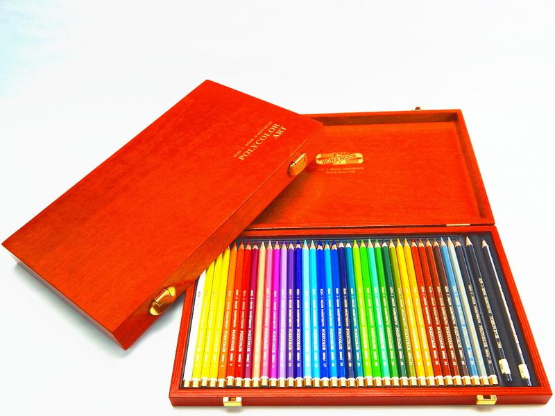 Umělecké pastelky 36 ks Koh-I-Noor Polycolor v dřevěné kazetě 3895/36