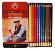 Umělecké akvarelové pastelky 12 ks Koh-I-Noor Mondeluz 3722