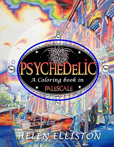 Psychedelic - Palescale Adult Coloring Book - Helen Elliston