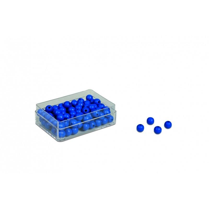 100 ks modrých korálků