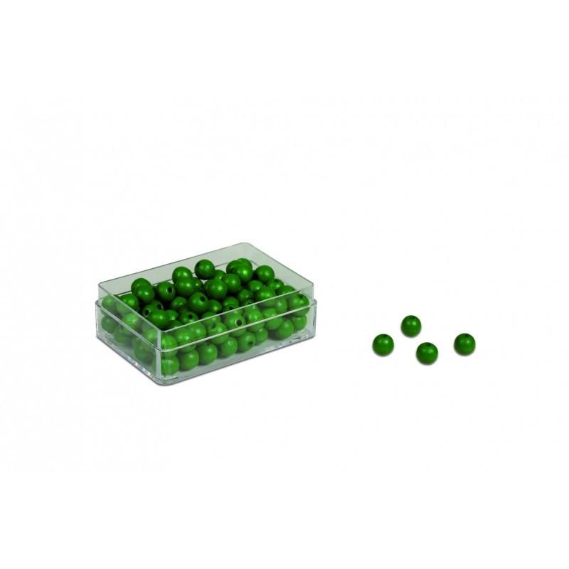 100 ks zelených korálků