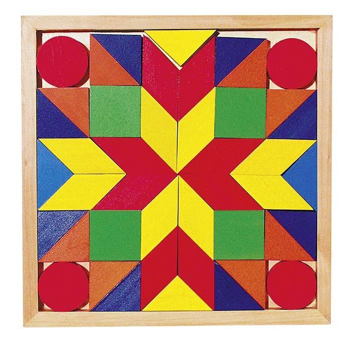 Dřevěný hlavolam – Mozaika II