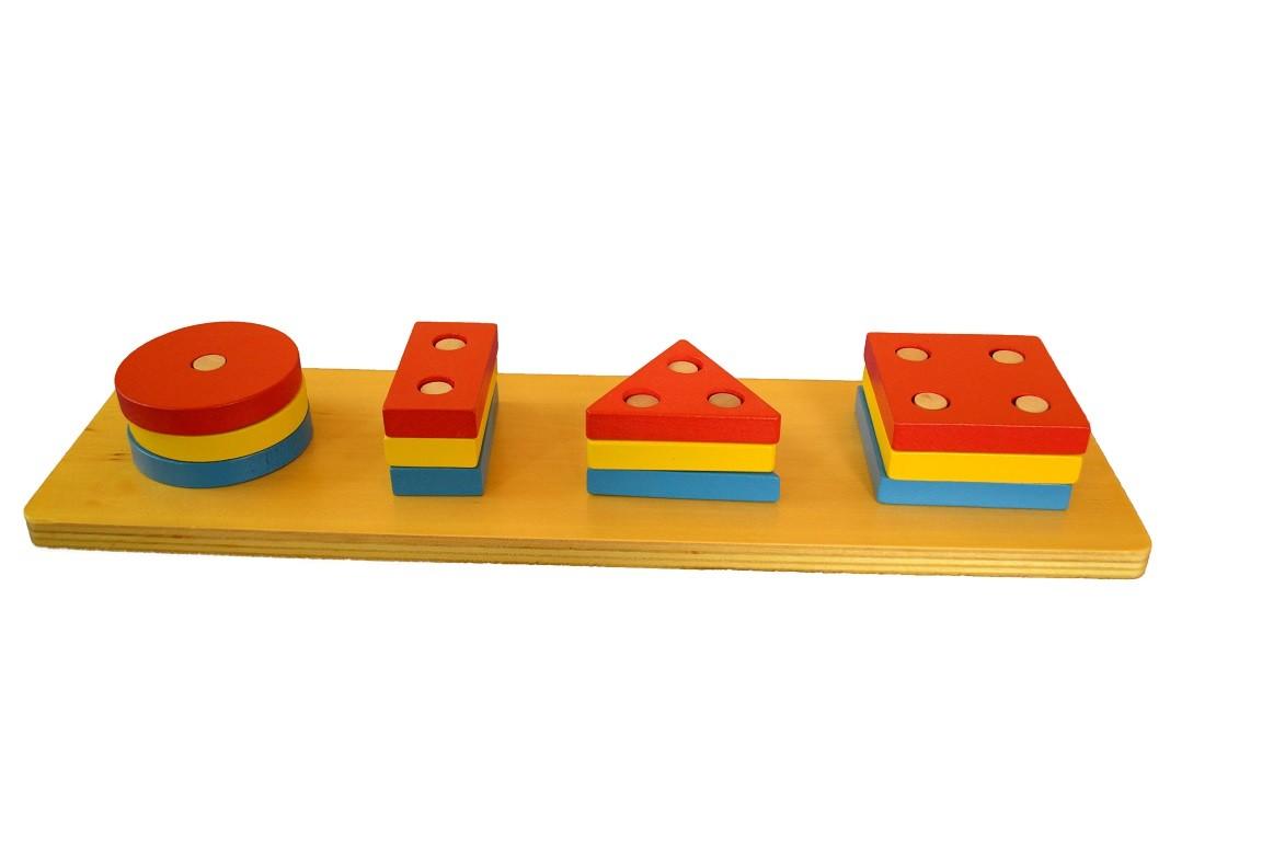 Barevné geometrické tvary - třídění