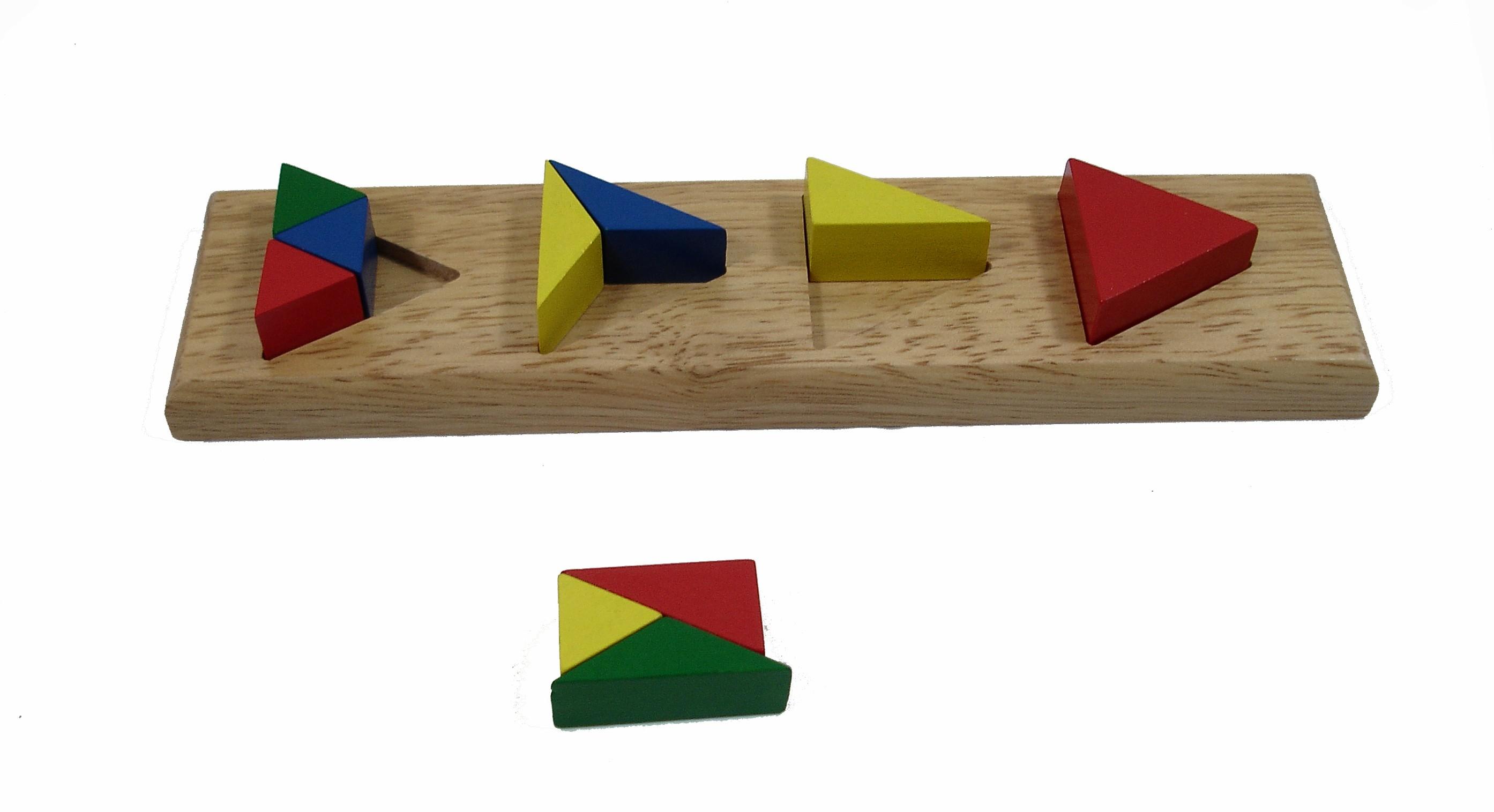 Barevné trojúhelníkové cihly