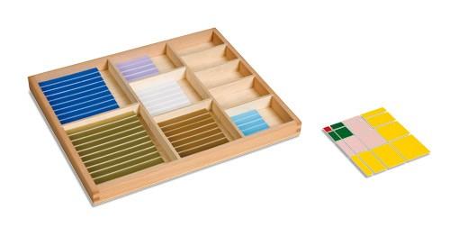 Dřevěný dekanomický čtverec s krabičkou