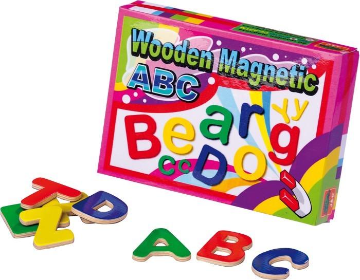 Dřevěná magnetická písmenka