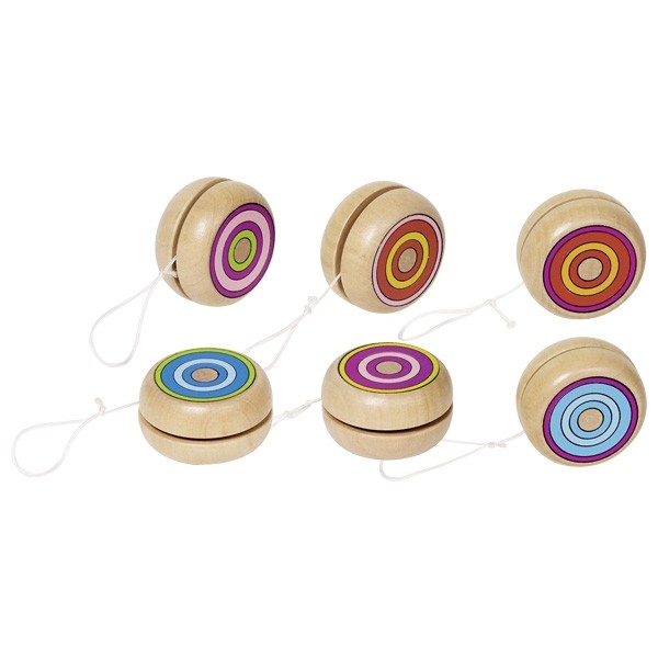 Dřevěné jojo – Barevné kroužky