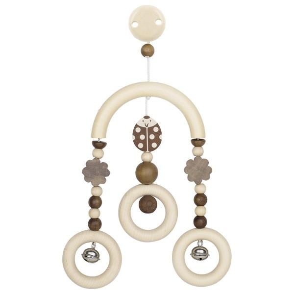 Dřevěný kolotoč pro miminka - beruška