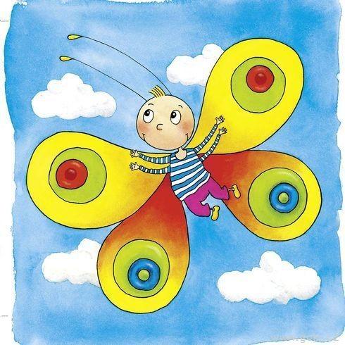 Motýl - vývojové vrstvené puzzle