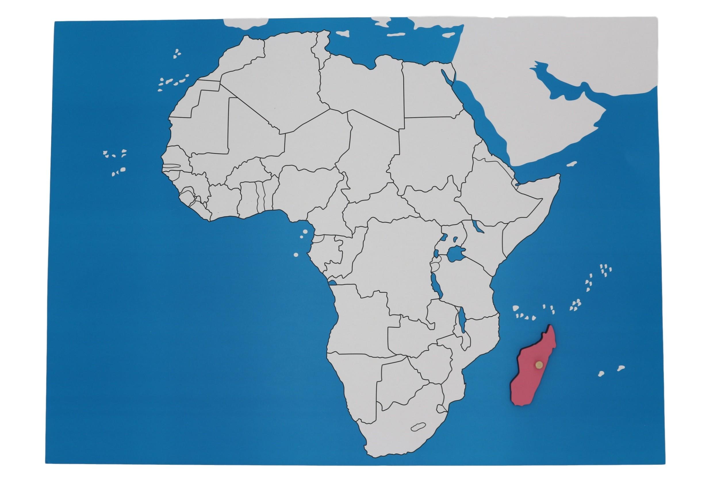 Kontrolní mapa - Afrika Nová - bez popisků