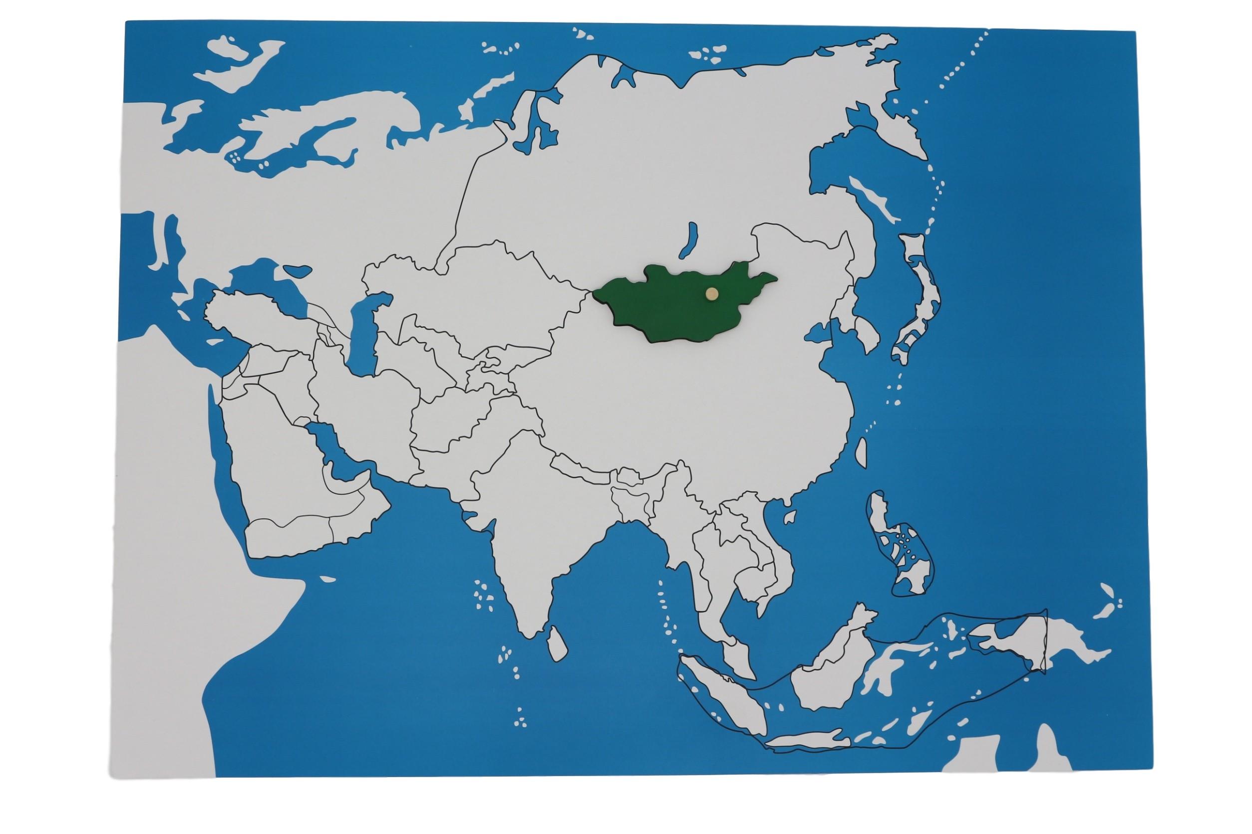 Kontrolní mapa - Asie Nová - bez popisků