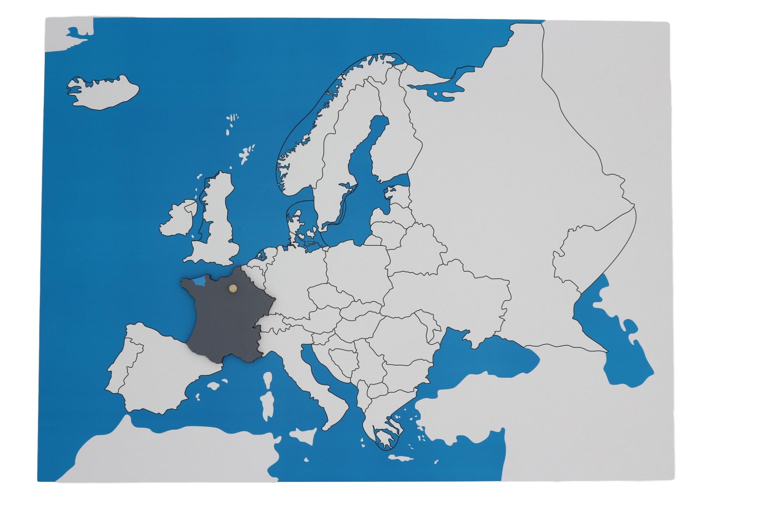 Kontrolní mapa - Evropa Nová - bez popisků