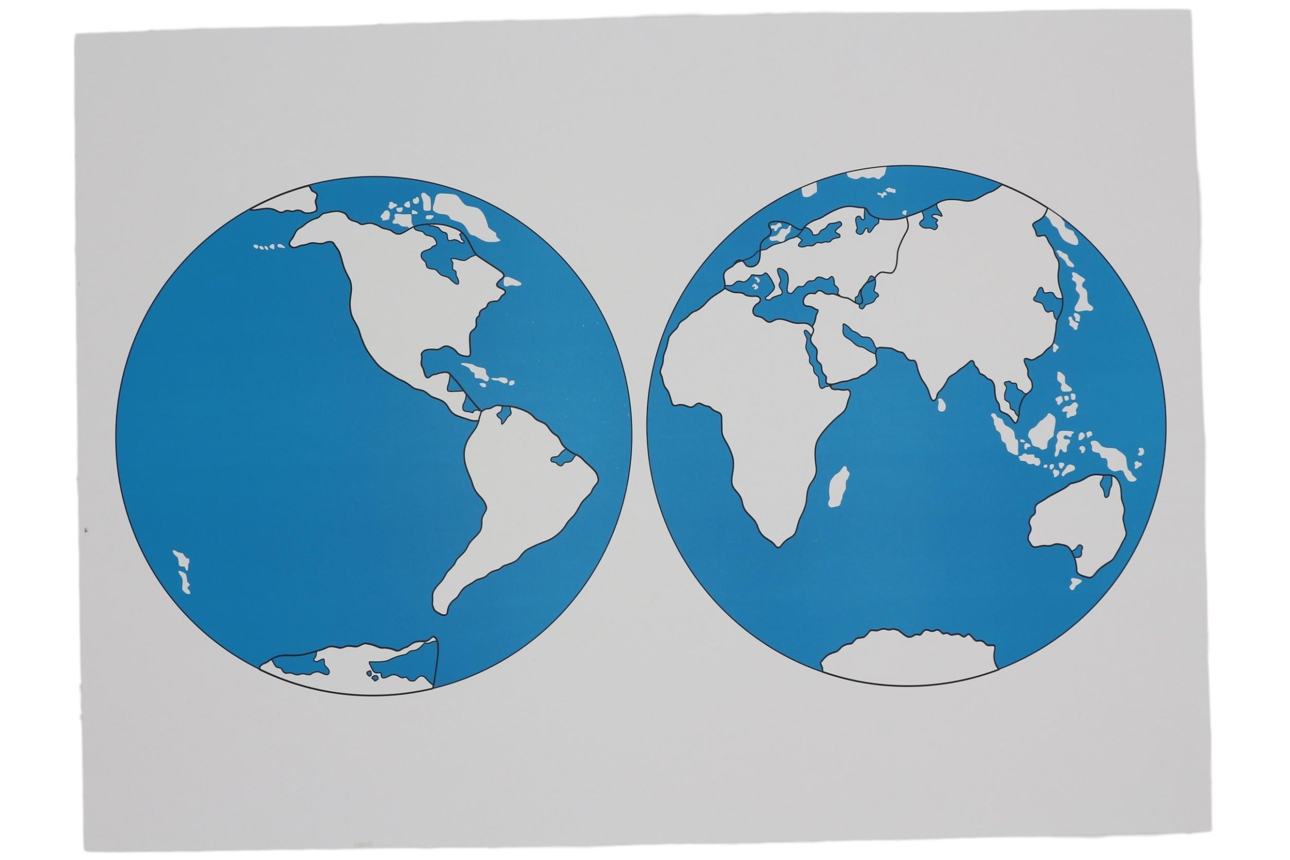 Kontrolní mapa - světa Nová - bez popisků