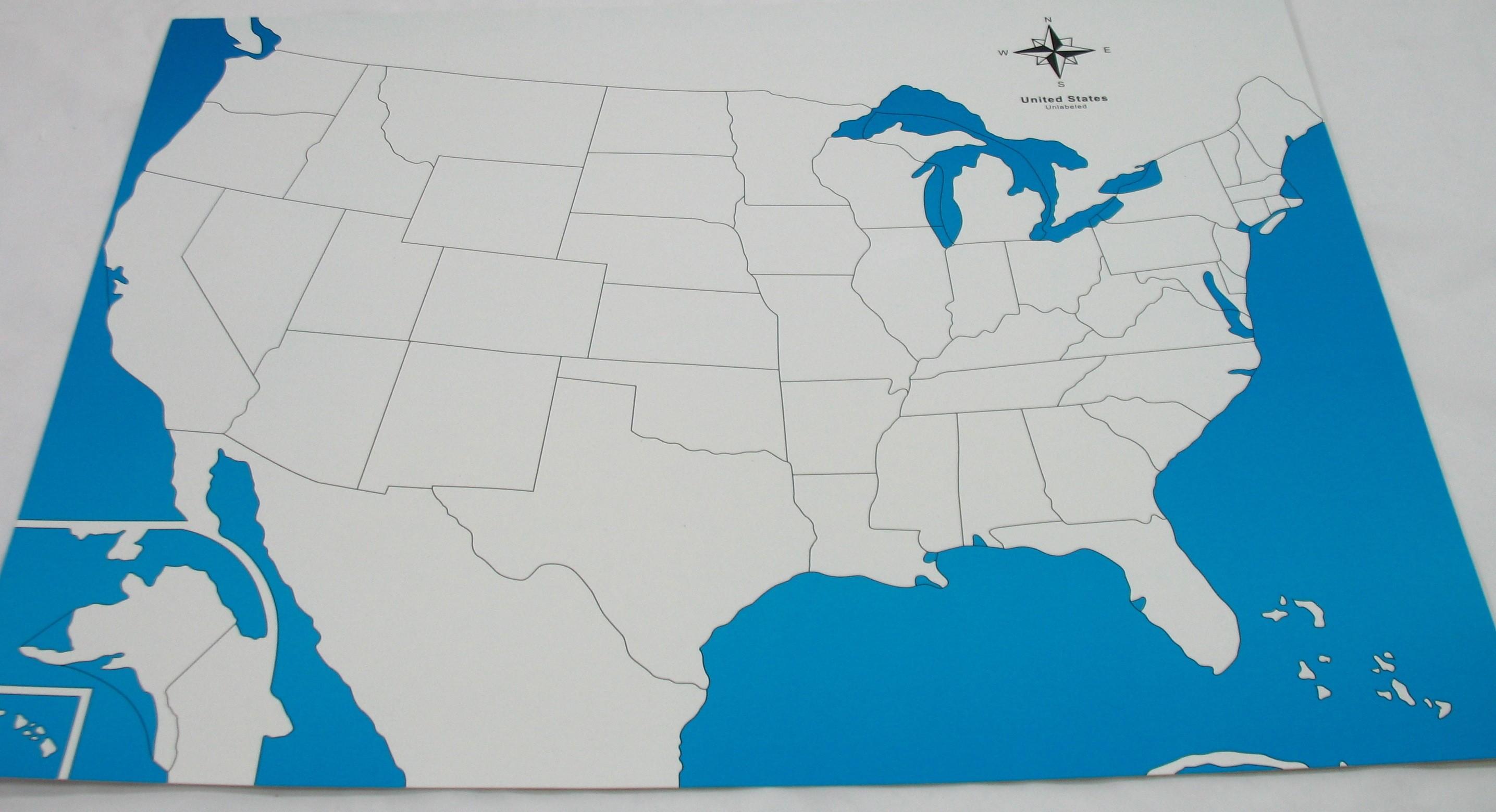 Kontrolní mapa - USA Nová - bez popisků