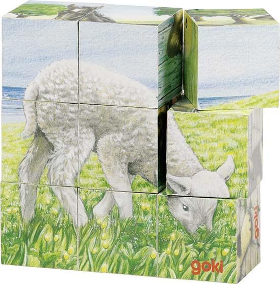 Kostky s obrázkem - Zvířátka na statku